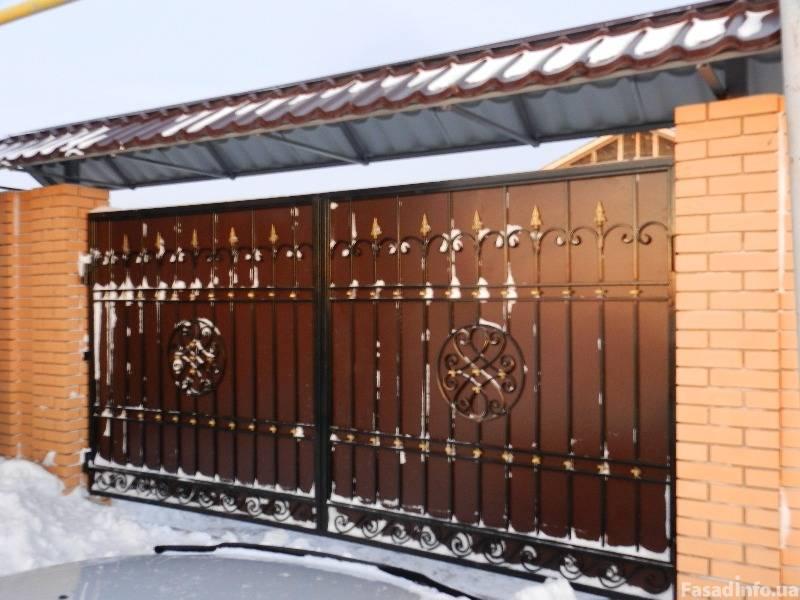 Козырек над воротами и калиткой