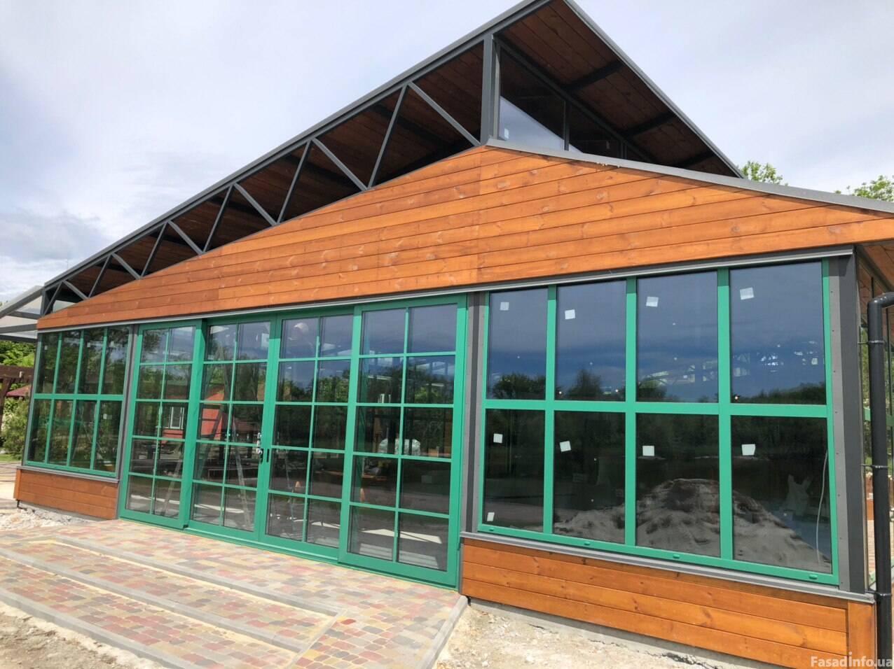 Остекление летнего ресторана для эко-лагеря Berry Land (Ягідна Країна) в с. Евецко-Николаевка