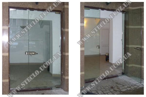 Входные стеклянные двери