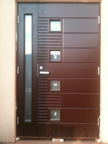 Дерево -алюминиевые двери