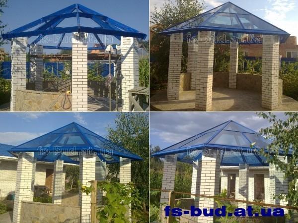 Шестигранная стеклянная крыша