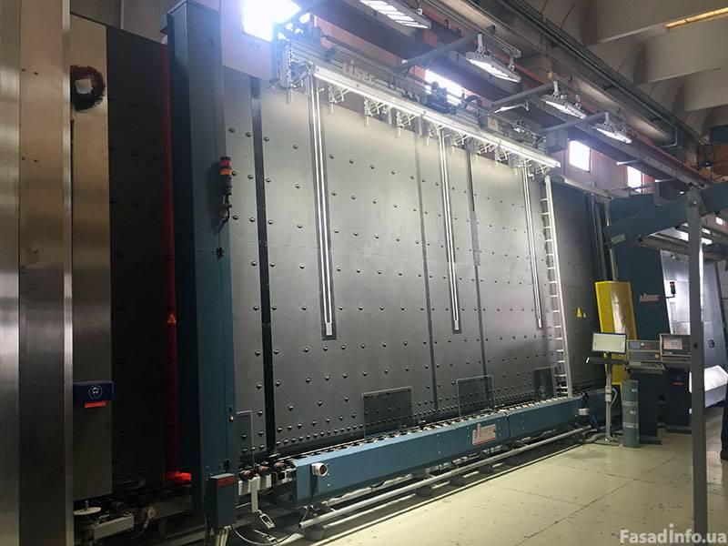 линия сборки стеклопакетов Lisec 3000 X 5000 газ пресс робот