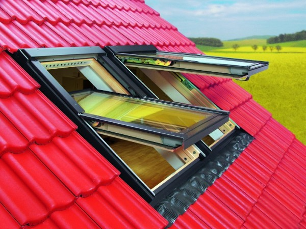 Устройство окон на крыше