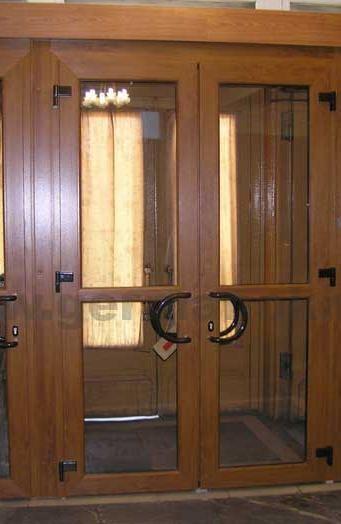 Ламинированные металлопластиковые двери
