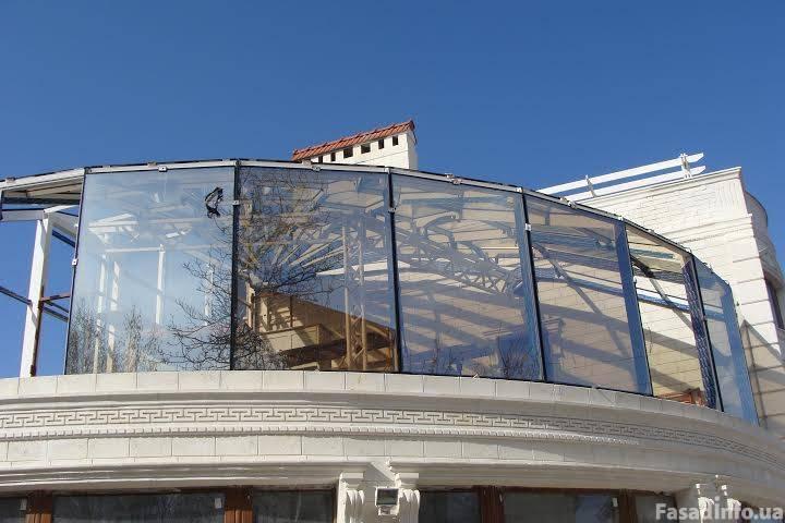 Фасадные работы (алюминиевый профиль)