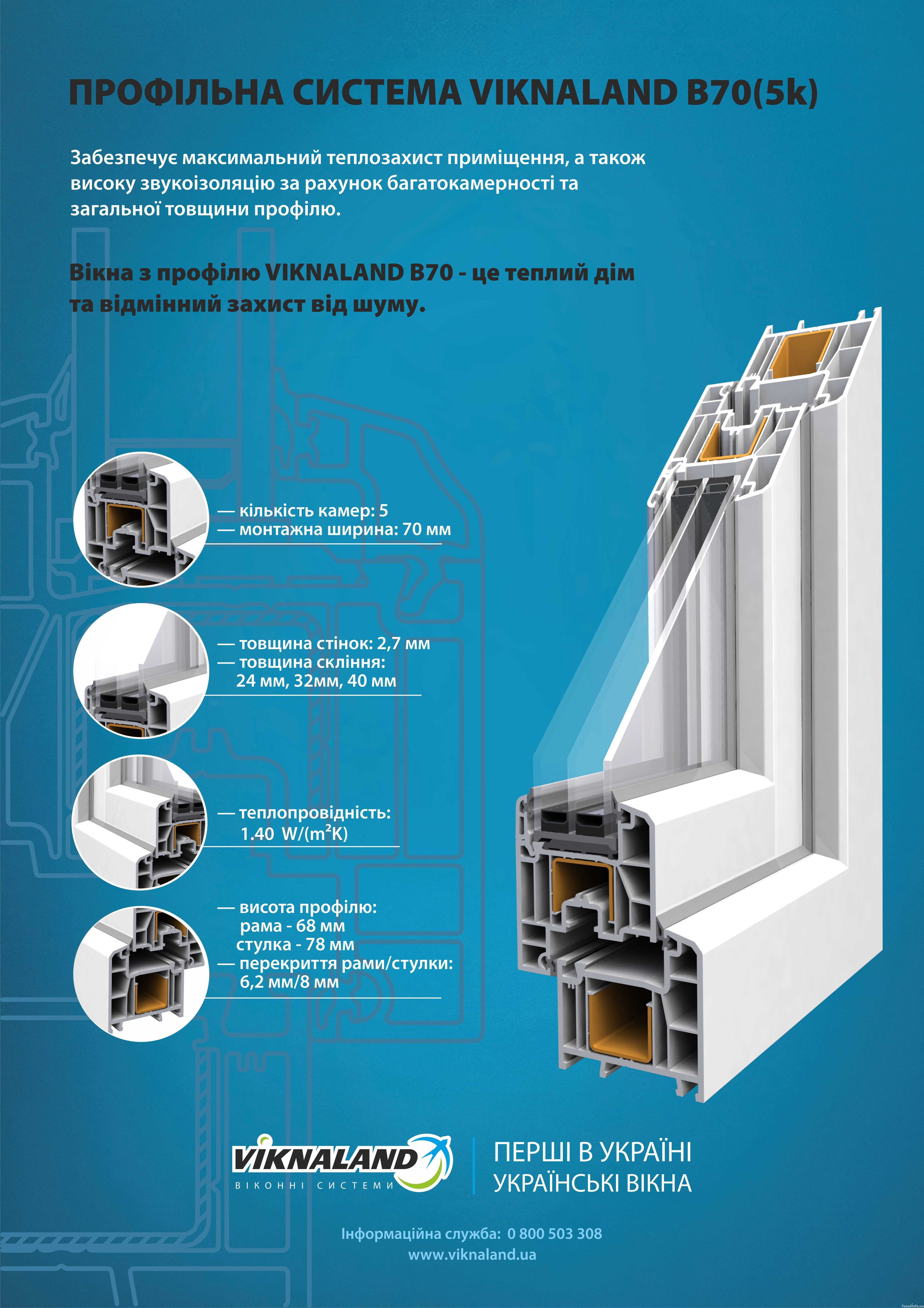 Технический плакат по системе Viknaland В70