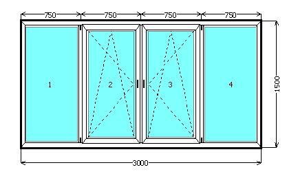 Стеклопакеты размеры балконы.