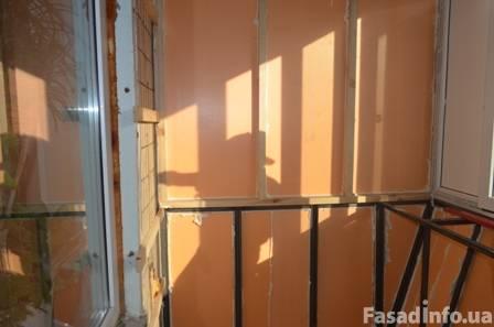 Внутреннее утепление балкона экструдированным пенополистирол.