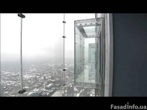 Как делают высотные стеклянные балконы?