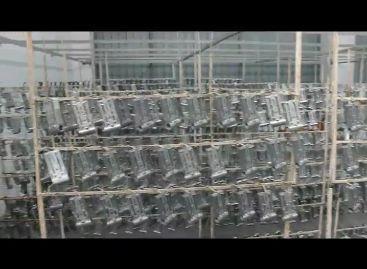 Автоматическая линия порошковой покраски завода Akpen Plastik