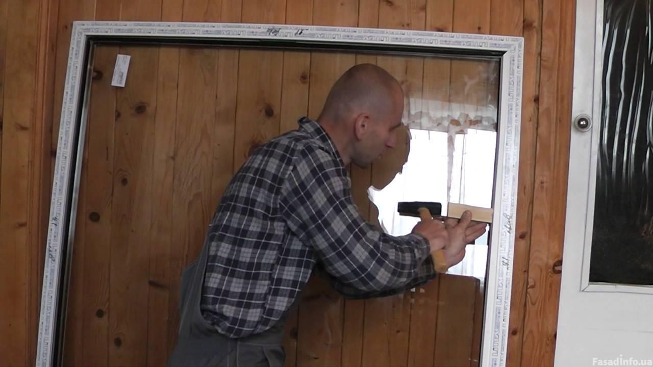 Как извлечь стеклопакет из металопластикового окна